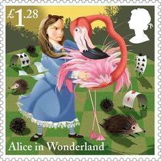 Royal Mail Unveils 'Alice in Wonderland' Stamps For Its 150th Anniversary