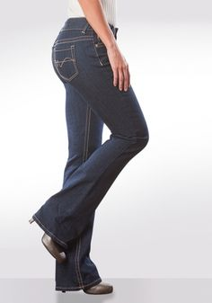 """36"""" Inseam Bootcut Jeans - tall even in sizes 4-24, and 25% Off as part of our Friends & Family Event (ends Monday!) #longelegantlegs #sale #jeans"""