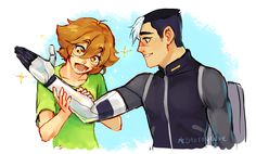 PIDGE WOULD BE A TOTAL GEEK OVER SHIROS ARM << I'M UPSET IT HASN'T HAPPENED IN THE SHOW YET BECAUSE YEAH THEY TOTALLY WOULD