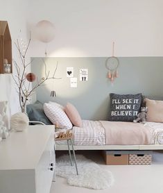 Picture could include: table, bedroom and interior - Kinderzimmer - Schlafzimmer Baby Bedroom, Girls Bedroom, Bedroom Decor, Kids Room Design, Room Interior, Interior Design, Coastal Interior, Modern Coastal, Apartment Interior