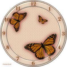 .Butterflies Clock Face