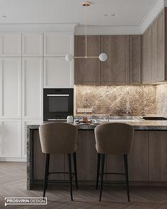 Kitchen Room Design, Modern Kitchen Design, Home Decor Kitchen, Interior Design Kitchen, Modern Interior Design, Modern Classic Interior, Modern Scandinavian Interior, Small Apartment Interior, Interior Design Living Room