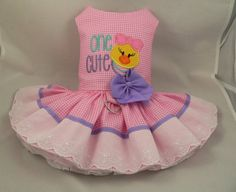 Dog dress. Cute Chick by Poshdog. Tutu skirt. by poshdog on Etsy