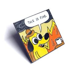 THIS IS FINE - Original Panel Pin by KC Green #pinsandpatches