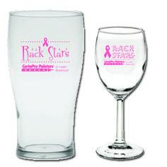 Rack Stars Fundraiser Beer Stein and Wine Glass