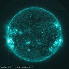Erupción solar clase 1.7  Fecha: 12/05/13 Observatorio solar dinámico de NASA