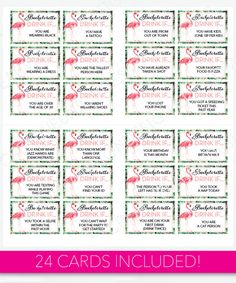 Bachelorette party game bingo dare sheet digital file print it bachelorette party game drink if game printable bachelorette game bachelorette party flamingo tropical bachelorette drinking game solutioingenieria Image collections