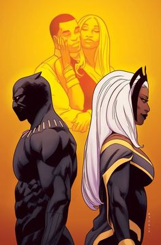 Black Panther and Storm by Kris Anka