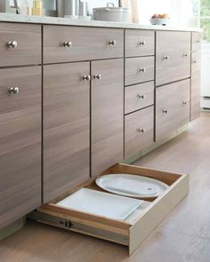 kitchen hidden drawers