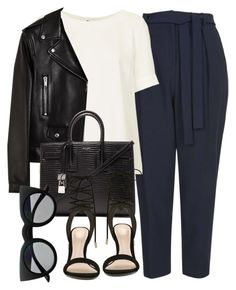 """Untitled #5378"" by laurenmboot ❤ liked on Polyvore featuring Topshop, Yves Saint Laurent, ALDO and Retrò"