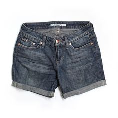 Pre-owned Joe's Jeans Denim Shorts Size 0: Blue Women's Bottoms (36 CAD) ❤ liked on Polyvore featuring shorts, blue, denim short shorts, blue denim shorts, joes jeans shorts, jean shorts and short jean shorts