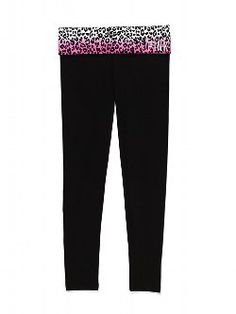 Cute to the core, with a sexy, slimming fit. The Yoga Legging from Victoria's Secret PINK is the perfect pant for working out, and wearing out. Extra-comfy with a fold-over waist, it's a stretchy essential to wear, pair and love.