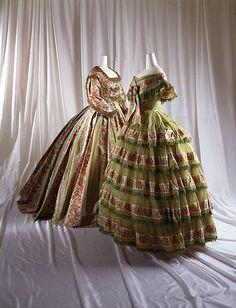 Dress Date: ca. 1856 Culture: American Medium: silk, cotton