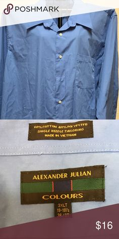 Men's Alexander Julian Colours Dress Shirt Men's Alexander Julian Colours Button Down Dress Shirt Alexander Julian Colours  Shirts Casual Button Down Shirts