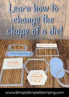 Do you know how to make custom shapes with stitched dies? This is a customization tip for die cutting that you'll use over and over! It's a game changer! www.simplysimplestamping.com - look for the August 27, 2019 post. #diecutting #cardmakingtips #papercrafting #cardmakingsupplies #cardmaking #conniestewart #simplysimplestamping #tuesdaytips #stampinup