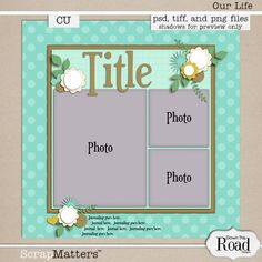 DTRD_Our Life Template Preview- just what I'm in need of for a remembrance collage