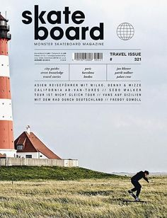 Skateboard (Germany) #magazine #cover #skateboard still-life and rule of thirds. washed out colors and font pretty: