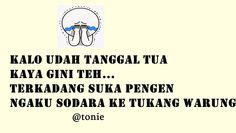 abaang,kitakan sodara bang! Funny Memes, Jokes, Quotes Indonesia, Just Smile, Funny Pictures, Lol, Cartoon, Humor, My Love
