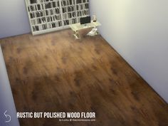 Rough wooden floors with a polished/mirror finish. Comes with five different swatches for any and all homes - rustic, modern and industrial alike! Found in TSR Category 'Sims 4 Floors'