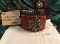 MADE IN THE DEEP SOUTH - Light Brown Leather Cuff Bracelet