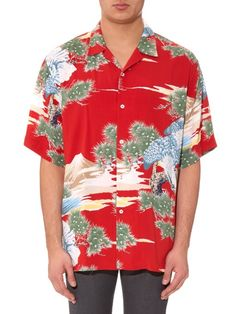 adacfd5553507 Gucci Eagle-print poplin shirt Eagle Print