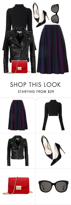 """Untitled #850"" by cece-cherry ❤ liked on Polyvore featuring Yves Saint Laurent, Balmain, IRO and Gentle Monster"