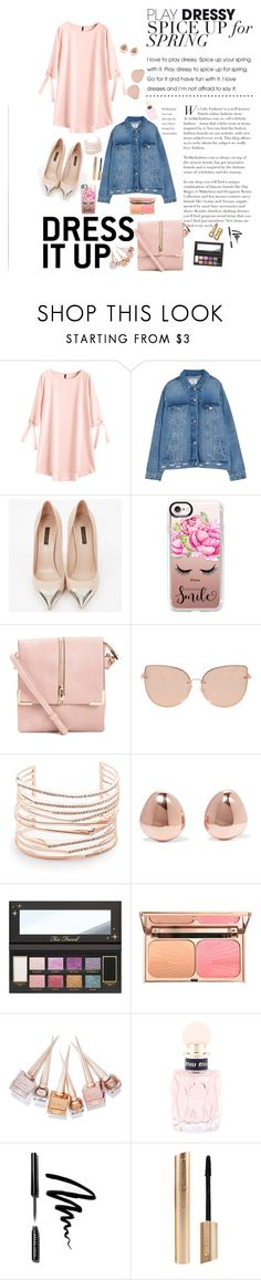 """""""spring fashion"""" by parsonsjayda ❤ liked on Polyvore featuring Louis Vuitton, Casetify, Topshop, Alexis Bittar, Monica Vinader, Christian Louboutin, Miu Miu, Bobbi Brown Cosmetics and spring2018"""
