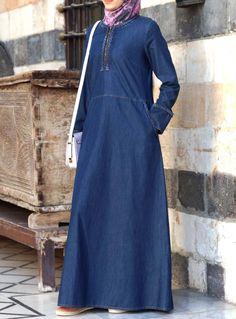 SHUKR USA   Denim Braided Dress