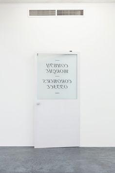 Matthew Brannon Finish Fetish, 2012 wood, metal, glass, enamel, hand-carved foam  203,2 × 96,5 × 20,3 cm (80 × 38 × 8 nches)