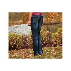Cowgirl Tuff Women's Dark Don't Fence Me In Boot Cut Jeans model# 2008906