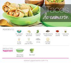 #Tacos de camarón #Tupperware