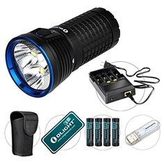 Olight Marauder up to 9000 lumens high brightness high power LED flash. Best Wallet, The Marauders, Power Led, Led Flashlight, Cool Gadgets, Binoculars, Bright, Glow