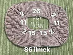 Knitting Models Of Half Sleeve Bolero - Diy Crafts Baby Knitting Patterns, Knitting Designs, Knitting Stitches, Crochet Patterns, Easy Knitting, Knitting For Beginners, Crochet Baby, Knit Crochet, Purl Stitch