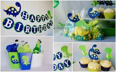 DinoROAR  birthday party package by Pinwheel Lane on etsy - Dinosaur Party Decorations