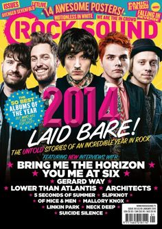 All the bands that made 2014 special in Rock Sound Jan 15 issue 195, including You Me At  Six, Bring Me The Horizon, Architects, Gerard Way, Lower Than Atlantis and many more
