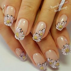 Heat Up Your Life with Some Stunning Summer Nail Art French Nail Art, French Nail Designs, Gel Nail Designs, Beautiful Nail Designs, Beautiful Nail Art, Fancy Nails, Cute Nails, Pretty Nails, Spring Nails