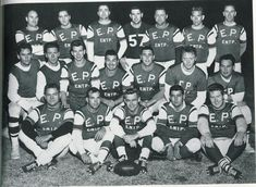 {*Elvis's football group Elvis 2nd top left *}