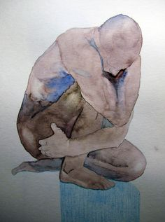 Watercolour Bodies by Melih Akdağ, via Behance    i just love this guy, just getting to see his work for the first time...his body lines so fine!