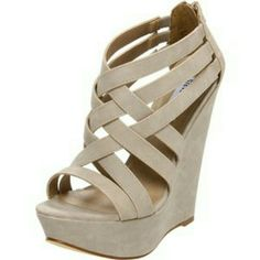 9f6373f8a Sexy Caged Wedges Shoes Heels