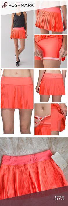 JUST In✔️ NWT Pleat To Street Skirt II Brand new ✔️ NWT Pleat To Street Skirt by Lululemon size 6/ Signature three-pocket waistband 🚫NO TRADES🚫 lululemon athletica Skirts