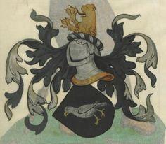 Armorial de la Table ronde.  Date d'édition :  1490-1500  Ms-4976  Folio 70r