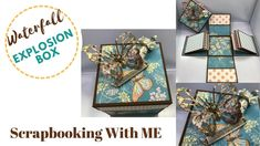 Waterfall Explosion Box Birthday Explosion Box, Explosion Box Tutorial, Valentine Day Boxes, Magic Box, Scrapbooking, Paper Gift Bags, Exploding Boxes, Fun Fold Cards, Craft Work