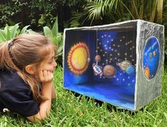 Solar System Projects For Kids, Solar System Crafts, Space Projects, Science Projects, School Projects, Solar System Model Project, Make A Solar System, Activities For Kids, Crafts For Kids
