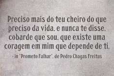 Pedro Chagas Freitas in Prometo Falhar