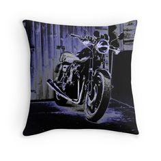 Night Bike throw pillows