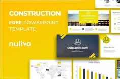 Construction PowerPoint Template Free Download Free Powerpoint Presentations, Powerpoint Template Free, Powerpoint Presentation Templates, Data Charts, Construction, Graphics, Google, Building, Graphic Design