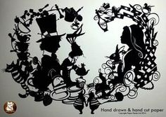alice in wonderland stencil - Google Search