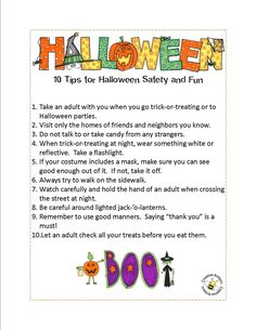 Creative Kritters...Halloween safety tips.
