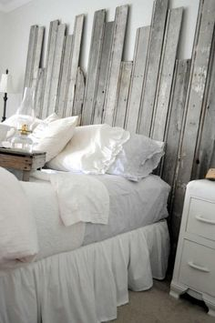 Contemporary Rustic... nice, but maybe not exactly this sort of head board.  Right at Home: Country meets contemporary decor
