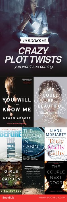 10 books with crazy plot twists you won't see coming! Pinterest:@JORDANLANAI